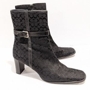 Coach women's monogram black boots sz 10 B